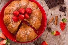 Strawberry cake. Royalty Free Stock Images