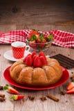 Strawberry cake. Stock Photos