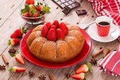 Strawberry cake. Royalty Free Stock Photo