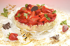 Strawberry cake Royalty Free Stock Images