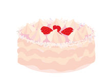 Strawberry cake Royalty Free Stock Photos