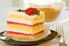 Strawberry cake Stock Images