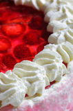 Strawberry cake. Photo of a fancy Strawberry cake, close up Stock Images