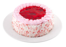 Strawberry Cake. On a white background Stock Images