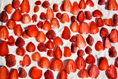 Strawberry cake. Delicious strawberry cake for dessert Royalty Free Stock Photo