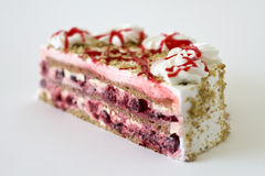 Strawberry Cake. A closeup view of a yummy looking strawberry cake Royalty Free Stock Photos