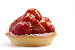 Strawberry cake. On a white background Royalty Free Stock Images