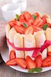 Strawberry cake charlotte Stock Photography