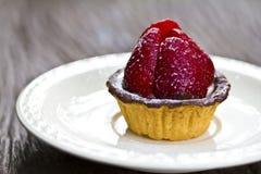 Strawberry cake with chocolate cream Stock Photos