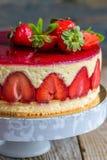 Strawberry cake close-up. Stock Images