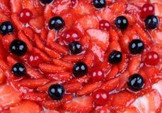 Strawberry cake, close-up shot Stock Photo