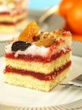 Strawberry cake, closeup Royalty Free Stock Image