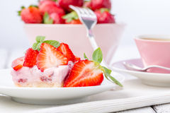 Strawberry cake. Royalty Free Stock Photography