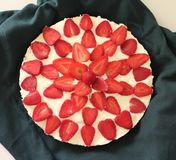 Strawberry-cake Royalty Free Stock Images
