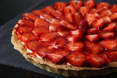 Strawberry cake dessert Stock Image