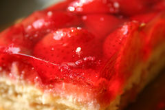 Strawberry cake with fresh strawberries. And gelantin stock photography