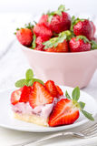 Strawberry cake. Royalty Free Stock Photos