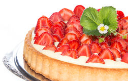 Strawberry Cake isolated on white Royalty Free Stock Photography
