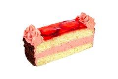 Strawberry cake isolated Royalty Free Stock Image