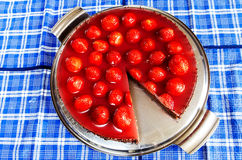 Strawberry cake with jelly Stock Image