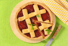 Strawberry cake with lattice Stock Image