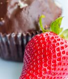 Strawberry And Cake Means Indulgence Strawberries And Fruit Stock Images