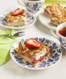 Strawberry cake with meringue Royalty Free Stock Photo