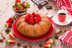 Strawberry cake. Royalty Free Stock Photo