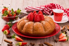 Strawberry cake. Stock Image