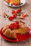 Strawberry cake. Royalty Free Stock Images