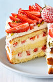 Strawberry cake. Stock Photo