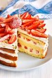 Strawberry cake. Royalty Free Stock Photos
