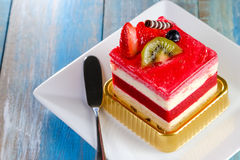 Strawberry cake on Stock Images