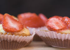 Strawberry cakes Royalty Free Stock Photos