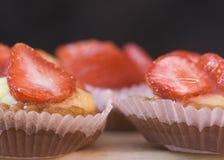Strawberry cakes royalty free stock photos