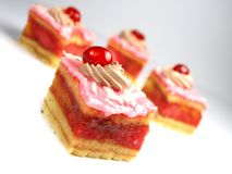 Strawberry cakes Stock Photo