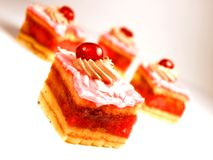 Strawberry cakes Stock Photos
