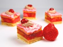 Strawberry cakes Stock Photography