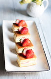 Strawberry cakes. Some delicious handmade strawberry cakes royalty free stock images