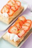 Strawberry cakes Stock Photo