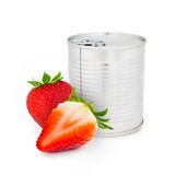 Strawberry can Royalty Free Stock Images