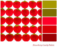 Strawberry candy palette Stock Photo
