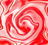 Strawberry candy swirl abstract background. Red strawberry and white milk liquid mix. Red and white marble texture. Strawberry yogurt or strawberry cream flow Royalty Free Stock Images