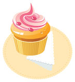 Strawberry cap-cake Royalty Free Stock Photography