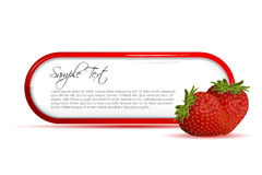 Strawberry card Royalty Free Stock Image
