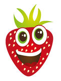 Strawberry cartoon Royalty Free Stock Image
