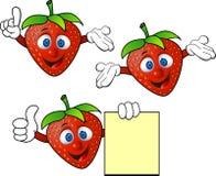Strawberry cartoon. Illustration of  strawberry cartoon character Royalty Free Stock Photos