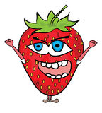 Strawberry cartoon character Stock Images