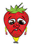Strawberry cartoon character Stock Image