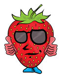 Strawberry cartoon character Stock Photo